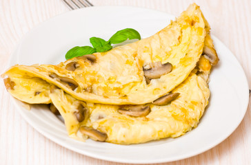 omelette with mushrooms