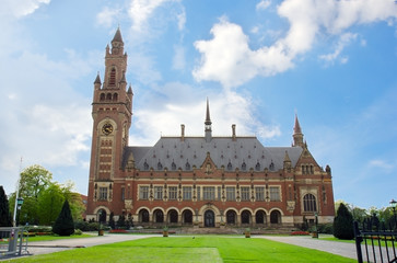 Peace Palace in The Hague, Holland