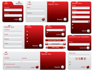 Red and silver web forms design