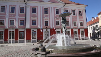 fountain square Tartu Estonia