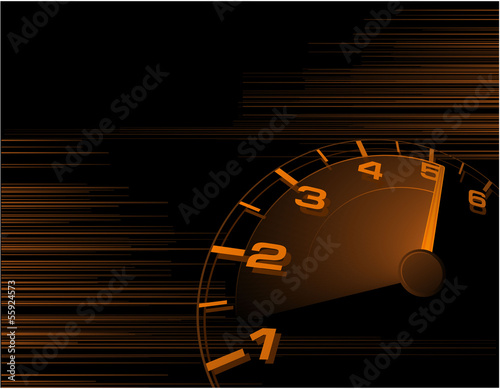 Speed orange vector abstract.