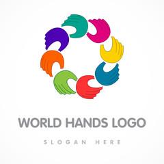 world hands logo