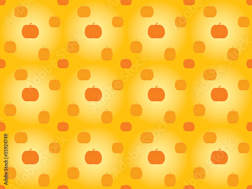 abstract seamless pattern with pumpkins