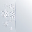 Vector illustration abstract Christmas Background with snowflake