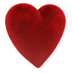 Fur  Heart (clipping path included)