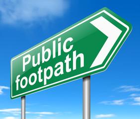 Public Footpath sign.