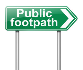Public Footpath sign.