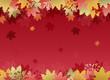 紅葉 和柄 バックグラウンド Autumn Maple leaves background