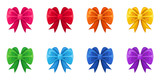 Set of ten colorful bows. Vector illustration.