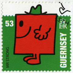 GUERNSEY - 2008: mr greedy, illustration Mr Men & Little Miss