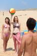 Three teenager at the beach