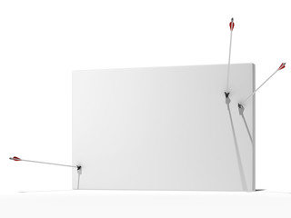 Wall with arrows