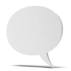 blank speech bubble