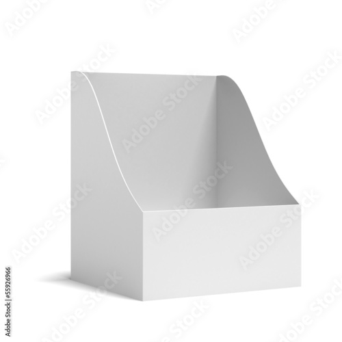 white holder for leaflets