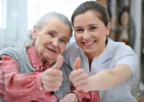 Leinwandbild Motiv Nursing home