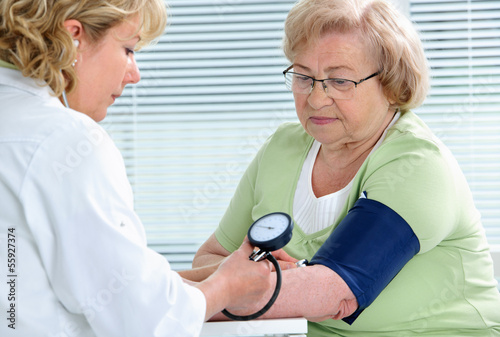 Measuring of blood pressure