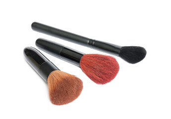 Make up brush set isolated