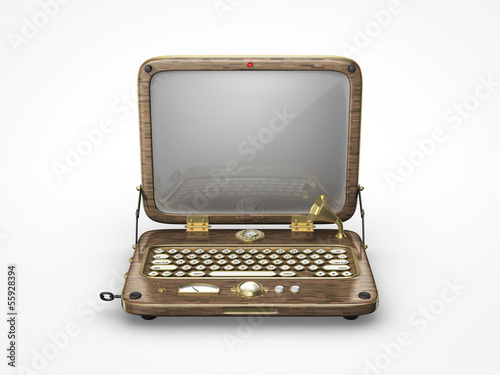 Old vintage laptop icon