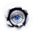 Schwarzes Loch mit Auge und Fadenkreuz