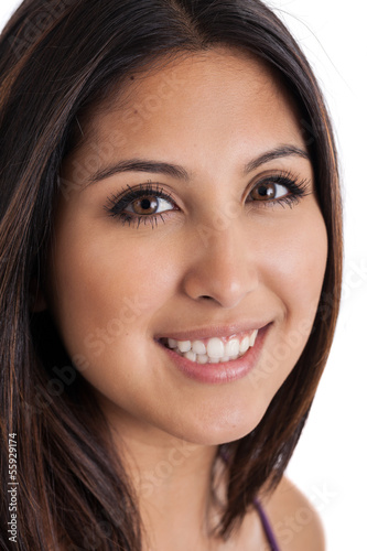 Beautiful mixed race Japanese Mexican woman portrait