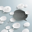 Bevel Speech Bubbles Black Opinion Infographic Design
