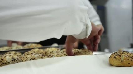 panini con semi di sesamo al ristorante
