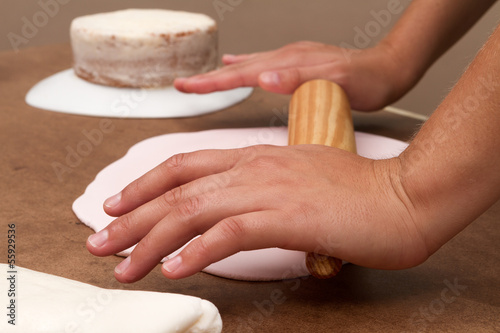 Cake and kitchenware