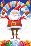 Santa Claus and balloons