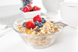 Healthy breakfast with muesli and fresh berries