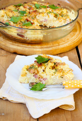 cauliflower and bacon quiche