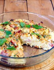 cauliflower and bacon quiche