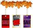 autumn leaves sale bar code barcode vector illustration