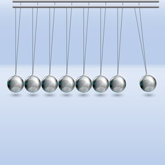 Illustration of newton cradle