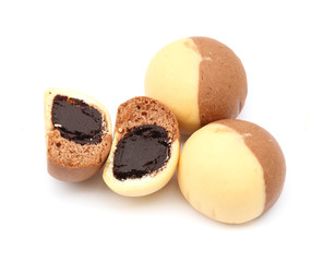chocolate thai mochi on white