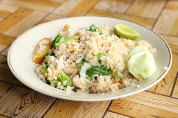 fried rice in dish