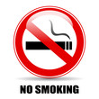 No smoking glossy sign