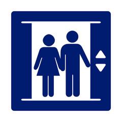Vector elevator symbol