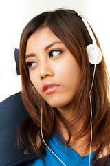 Asian woman and headphone