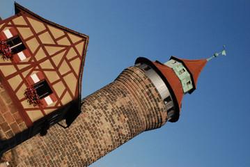 Stadt Nürnberg Sinwellturm Fachwerkhaus Bayern Franken