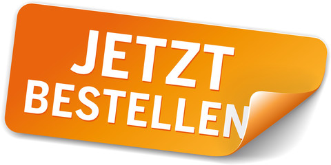 Button Label Jetzt Bestellen orange