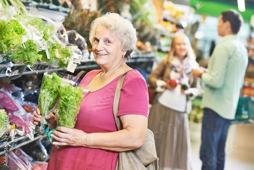 adult woman shopping vegetables