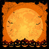 Halloween background and pumpkins