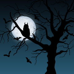 Halloween night vector background