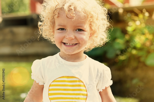 cute little girl in summer sun