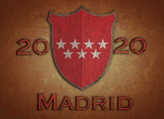 Shield with Madrid 2020.
