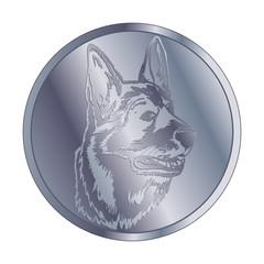 Deutscher Schäferhund - Medaille silber