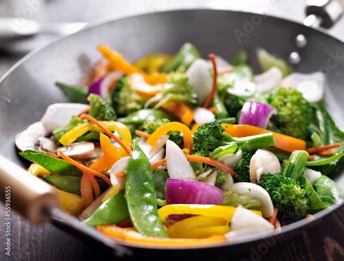 Tuinposter Groenten vegetarian wok stir fry