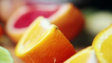 Close up of healthy citrus fruits
