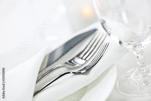 Leinwandbild Motiv Table setting for fine dining