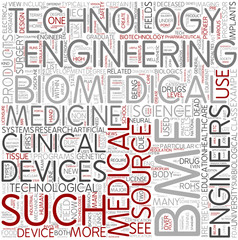 Biomedical engineering Word Cloud Concept
